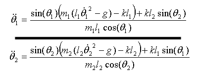 The Coupled Pendulum Equations of Motion
